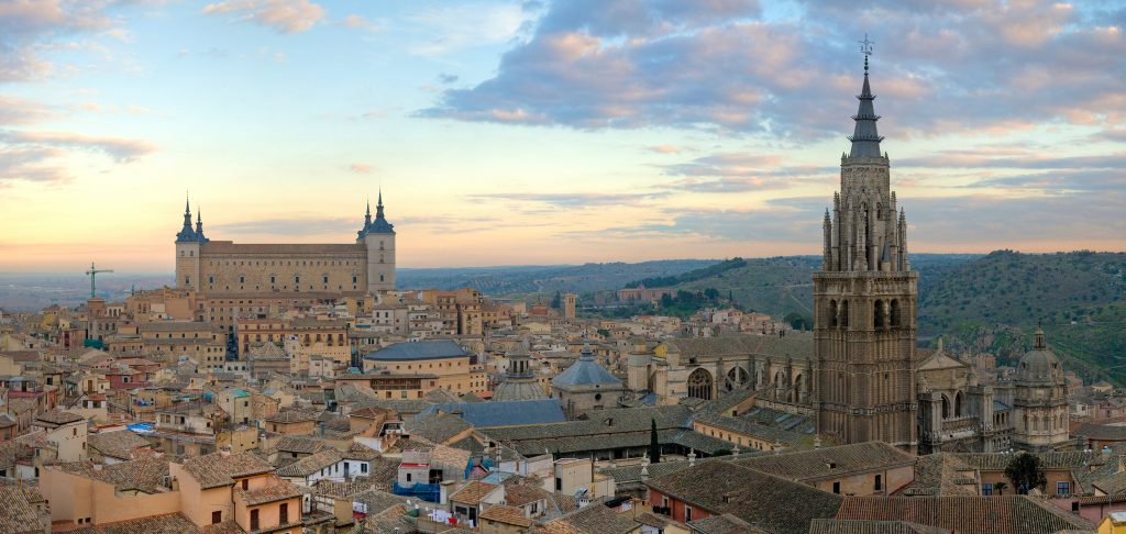 Breathtaking view over the imperial city of Toledo.